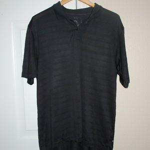 Addidas Men's Short Sleeve Collar Shirt Black Sz L